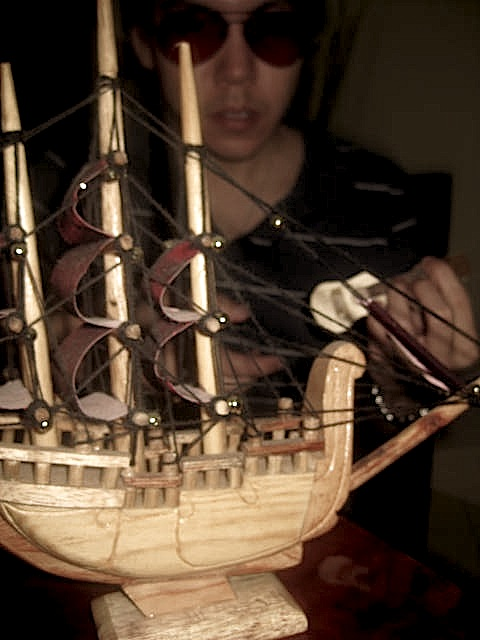 A wooden ship built by Michael Salvador
